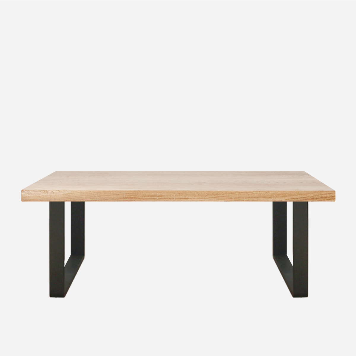 Oak Standard Metal Leg Bench