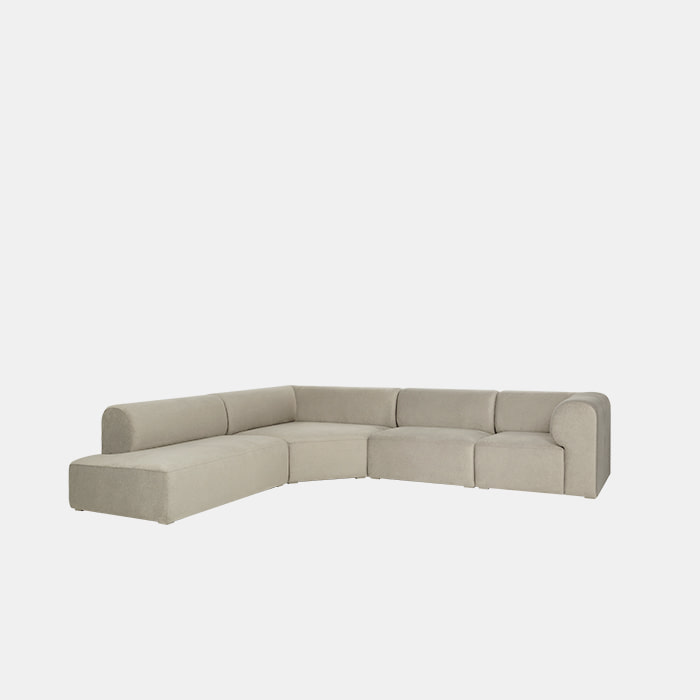 [얼리버드] Mellow 4 unit Corner Mix Sofa L/R