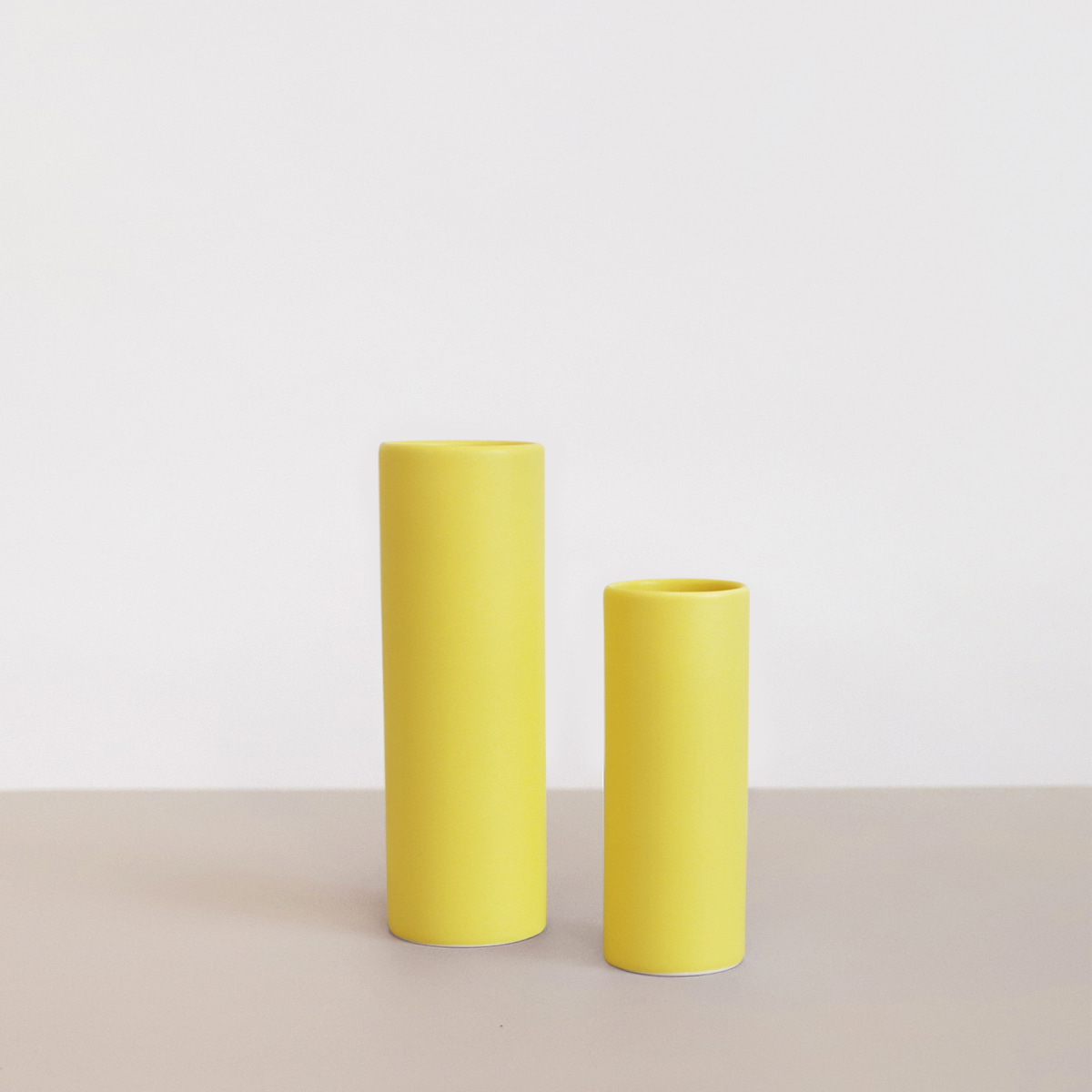 Oblique vase_ Lemon Yellow