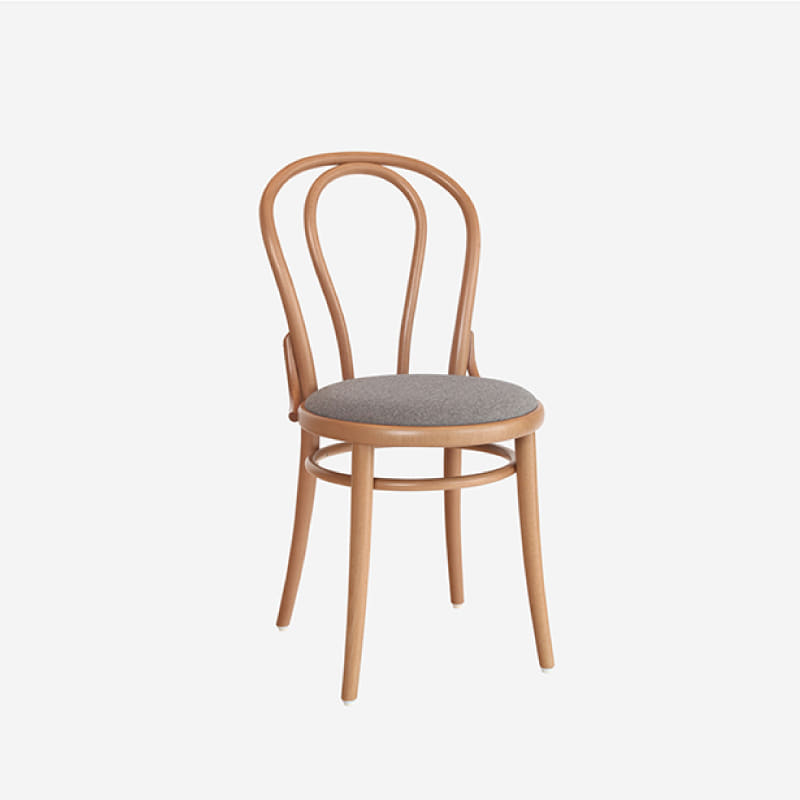 [다음주배송] Ton Chair 018_ Natural / Fabric Gray